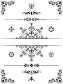 Ornament design elements dividers — Stock Vector