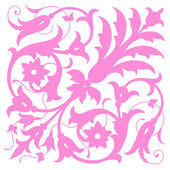 Pink vintage foliate ornament design — Stock Vector
