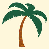 Tropical palm tree illustration — Stock Vector