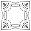 Ornate filigree frame black and white — Stock Vector