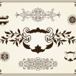 Ornament design elements on parchment — Image vectorielle