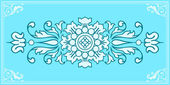 Pretty floral ornament design element — Stock Vector