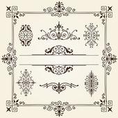Ornament design elements frame vorder — Stock Vector