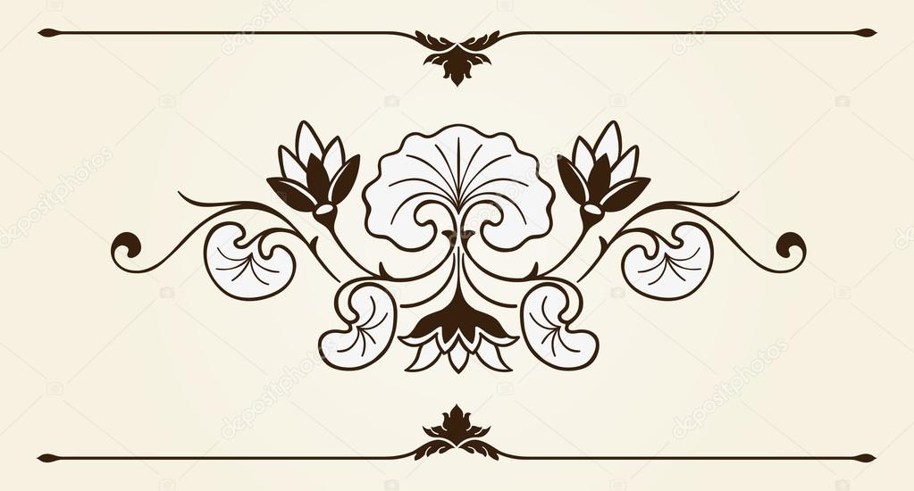 Ornamental Design Flower Floral Ornament Design Element