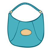 Stylish womans blue handbag or purse — Stock Vector