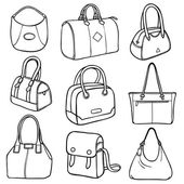 Collection of fashion handbags — Stock Vector