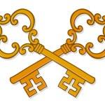 Crossed ornate gold keys — Stock Vector #33205543