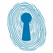 Fingerprint over a lock keyhole — Stock Vector #33652859