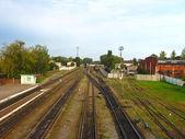 Ver en un cruce de ferrocarril — Foto de Stock