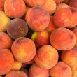 Many bright tasty peaches — Foto de stock #13370532