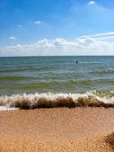панорама моря, волн и побережье — Стоковое фото