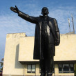 The big and black monument to Lenin — Stock Photo