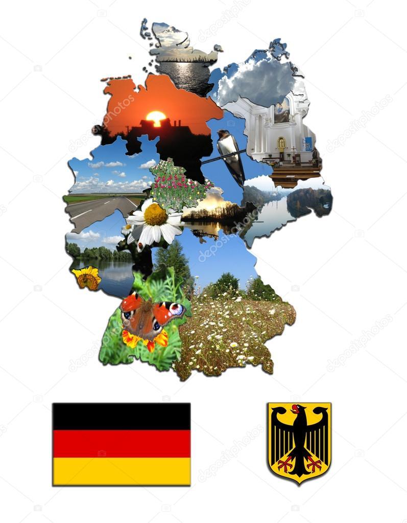 Карта регионов и герб Германии — Стоковое фото ...: http://ru.depositphotos.com/14262363/stock-photo-the-map-of-regions-and.html
