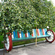 Original bench from wheels - 图库照片