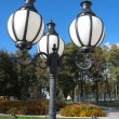 Lanterns in city park — Stock Photo