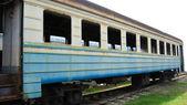 Yalnız tren araba — Stok fotoğraf