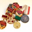 Stock Photo: Soviet medals for valorous work