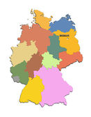 Map of Germany with regions — Stock Photo