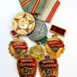 Royalty-Free Stock Photo: The Soviet medals for valorous work
