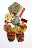 The Soviet medals for valorous work — Stock Photo