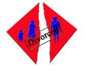 Vector symbolizing divorce in family — Stock Photo