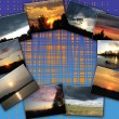 Stock Photo: Collage with set of landscapes