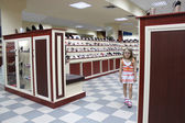 Shoe shop with a lot of different shoes — Стоковое фото
