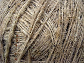 The clew of flax fiber — Stock Photo