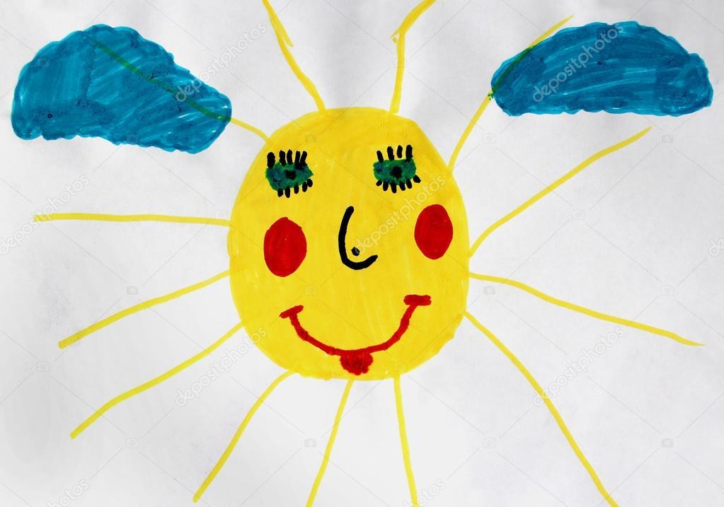 Солнце рисунок вороны - d1