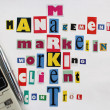 Stock Photo: Main components of market and business