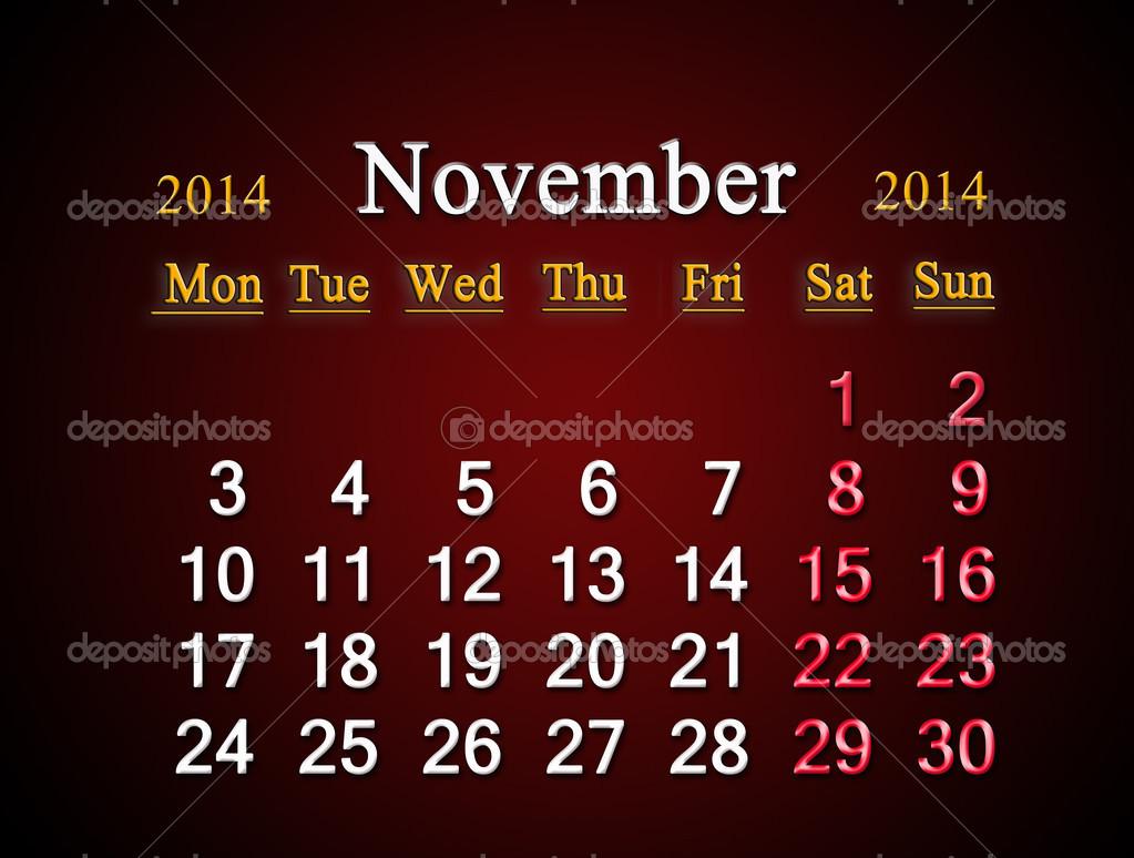 1023 x 774 jpeg 177kB, November 2014 Calendar Cartoon | Calendar ...