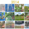 Stock Photo: Calendar for 2014 year