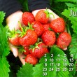 Calendar for the June of 2014 year — Stock Photo