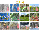 Calendar for 2014 year — Stock Photo