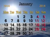 2014 年 1 月的日历 — 图库照片