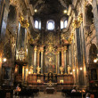 Inside of Jesuit Church is dedicated to Sts. Peter and Paul in Lviv — Stockfoto