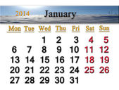 Kalendář pro leden 2014 — Stock fotografie
