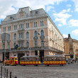 Lively street in the central part of Lvov — Stock Photo