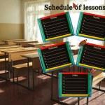 horaire des leçons pendant une semaine — Photo