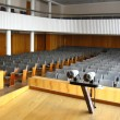 Pair of microphones in the big hall — Stockfoto
