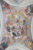 Magnificent paints on the ceiling of the church — Stock Photo
