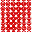 Pattern from red shapes like laces — Stock Photo