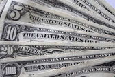 Bank notes of the American dollars — Stock Photo