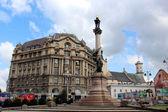 Monument of polish poet Adam Mickiewicz in Lviv — Stock Photo