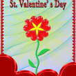 Beautiful flower for Valentine's day in red frame — Stock Photo