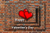 Beloved hearts with inspiration Happy Valentine's Day — 图库照片