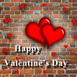 Stock Photo: Beloved hearts with inspiration Happy Valentine's Day