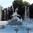 Stock Photo: Fountains with beautiful swans in park of Lvov