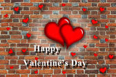 Beloved hearts with inspiration Happy Valentine's Day — Foto Stock