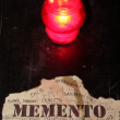 Stock Photo: Candle and inscription in Latin memento mori